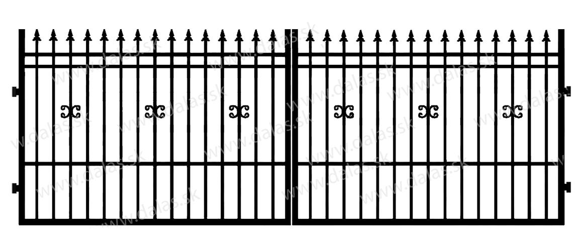 Kovová brána D1