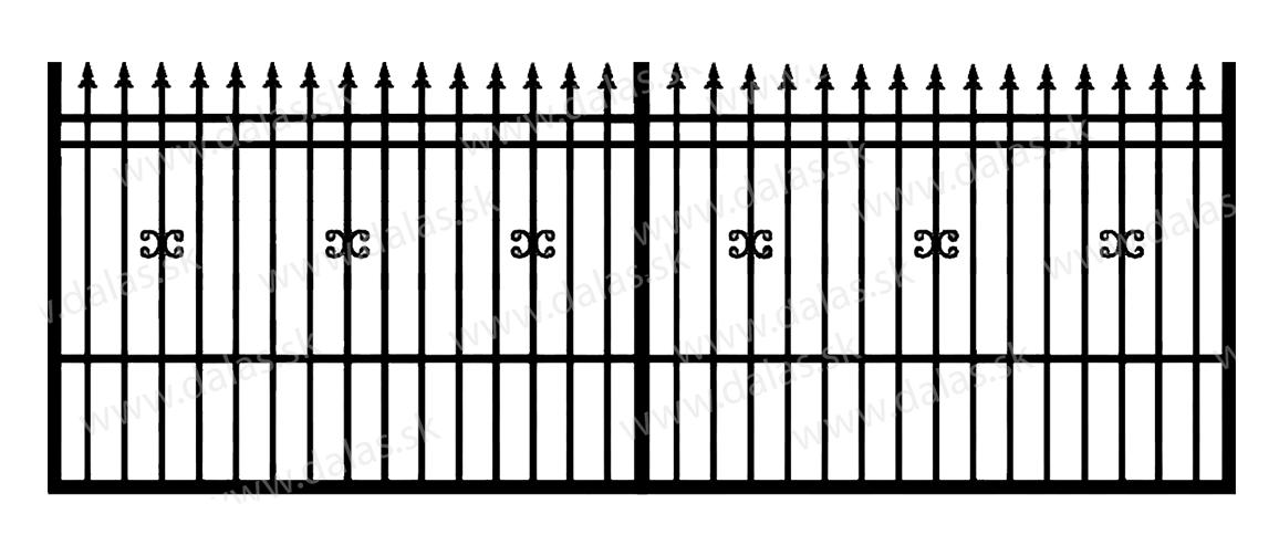 Koľajová kovová brána D1