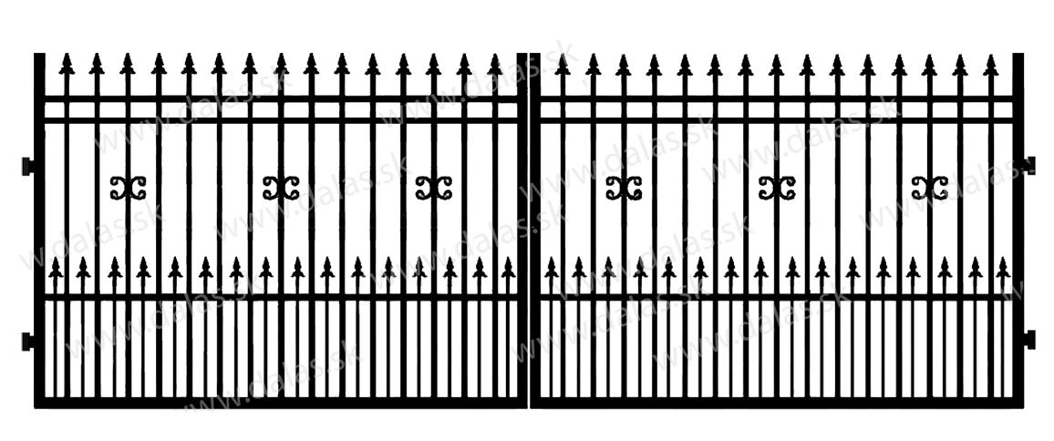 Kovová brána D1+