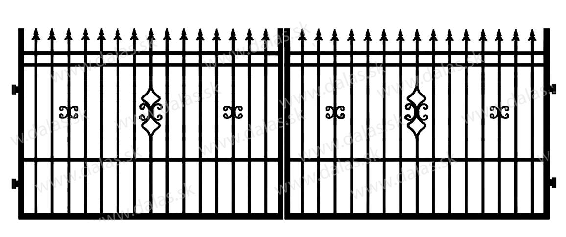 Kovová brána D2