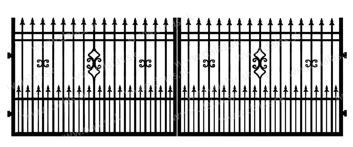 Kovová brána D2+
