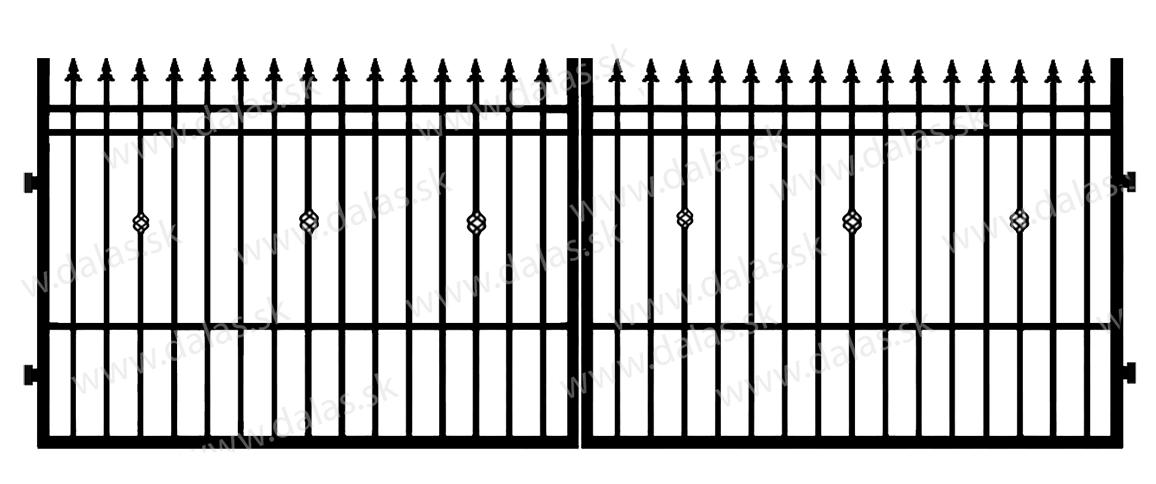 Kovová brána D3