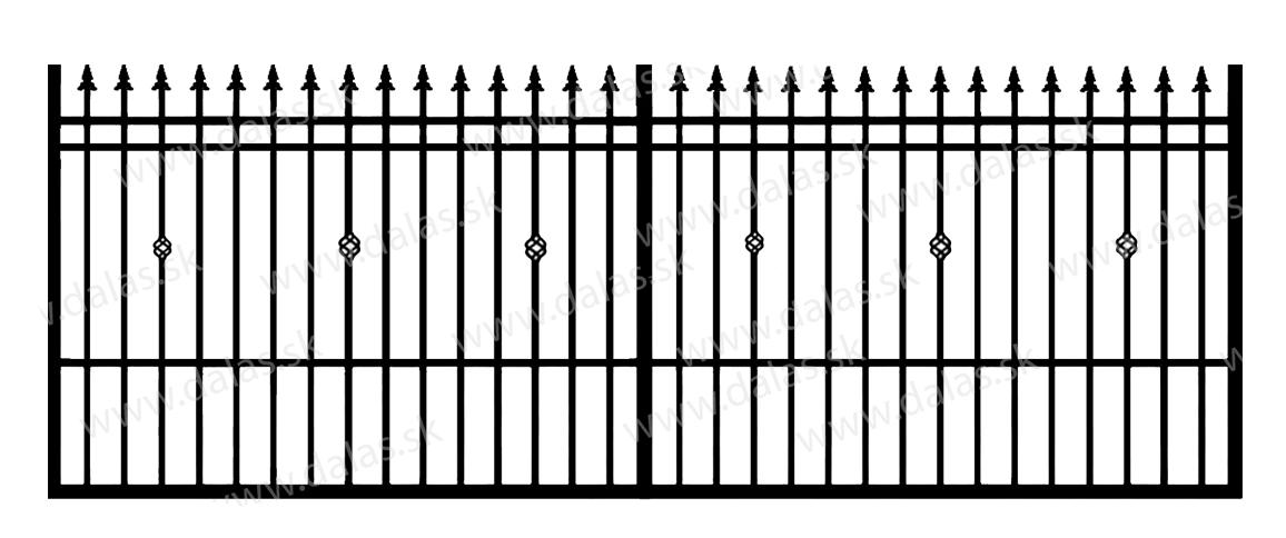 Koľajová kovová brána D3