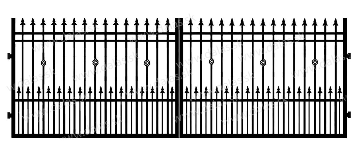 Kovová brána D3+