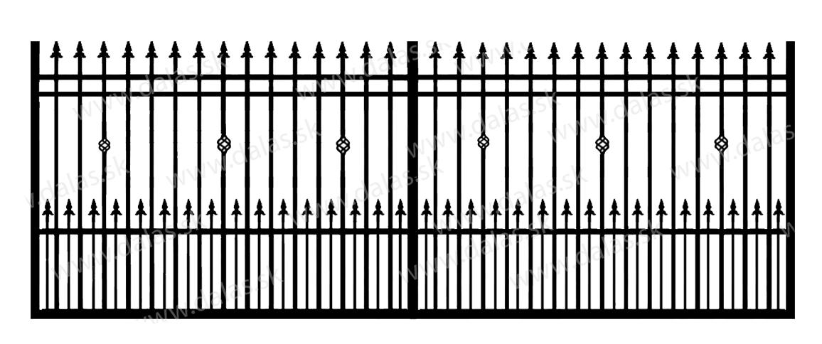 Koľajová kovová brána D3+