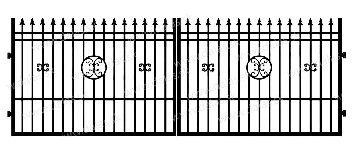 Kovová brána D4