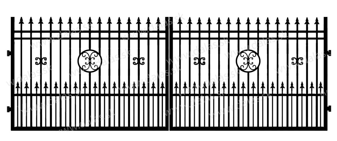 Kovová brána D4+