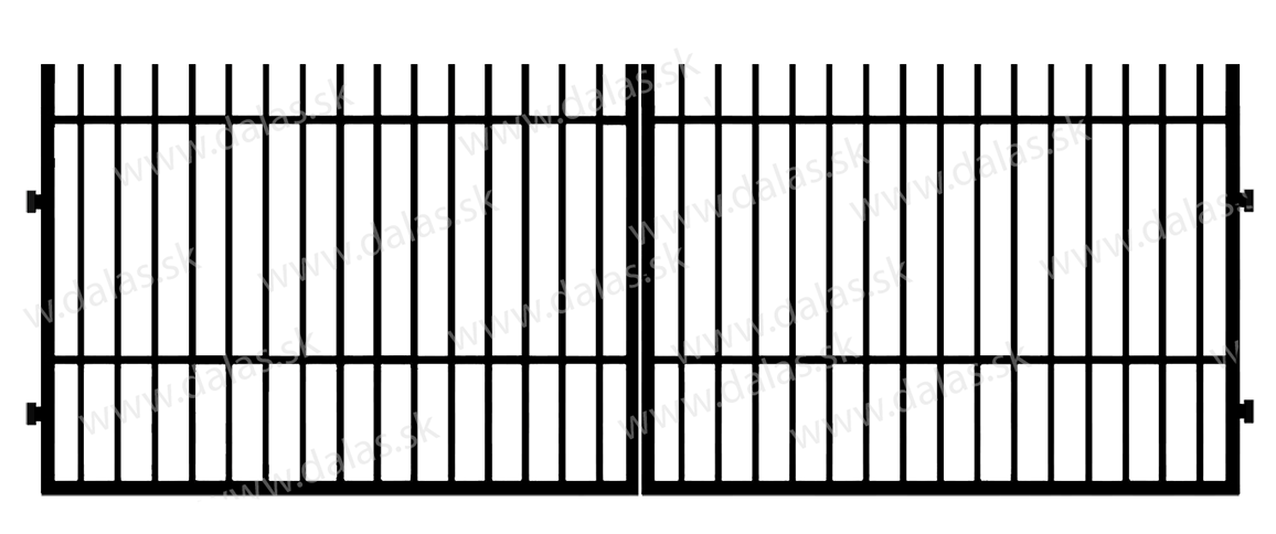 Kovová brána E1
