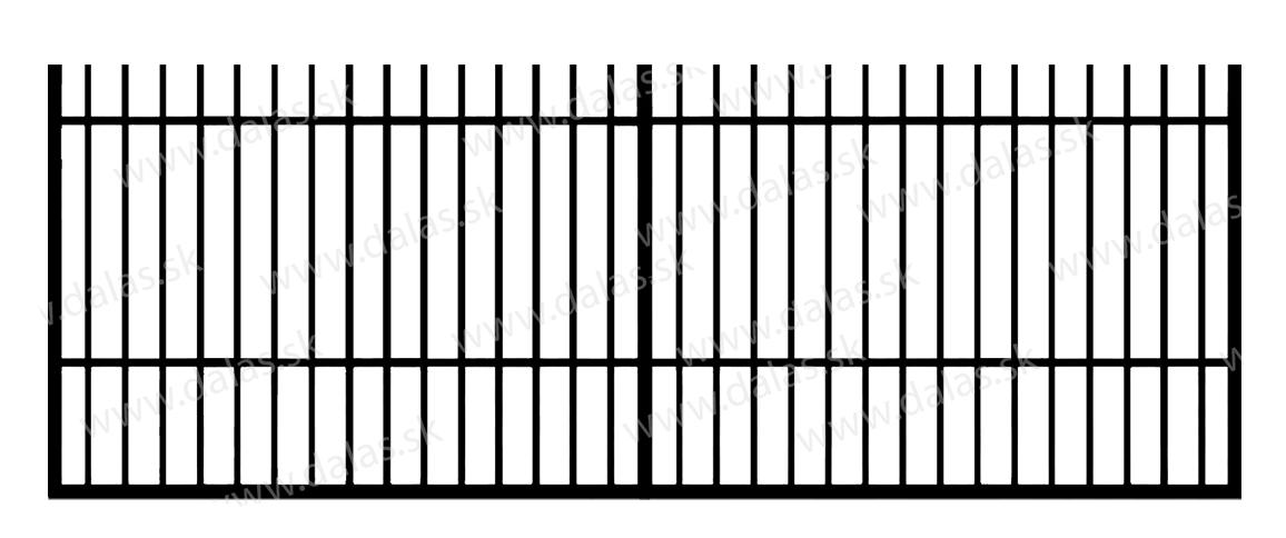 Koľajová kovová brána E1