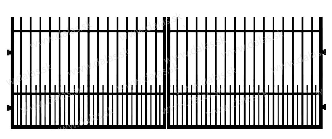 Kovová brána E1+