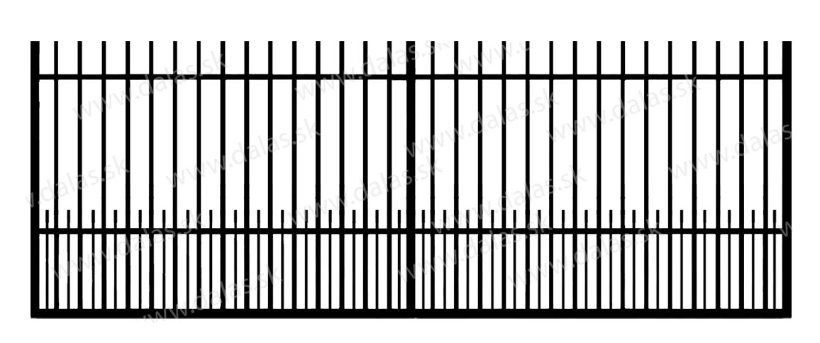Koľajová kovová brána E1+