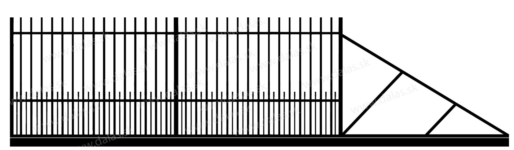 Samonosná posuvná kovová brána E1+