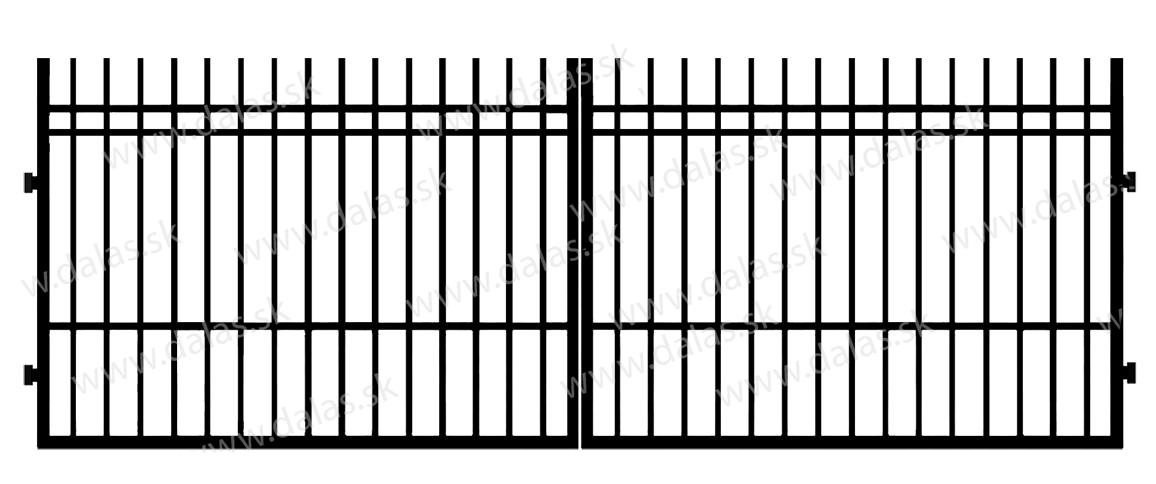 Kovová brána E2