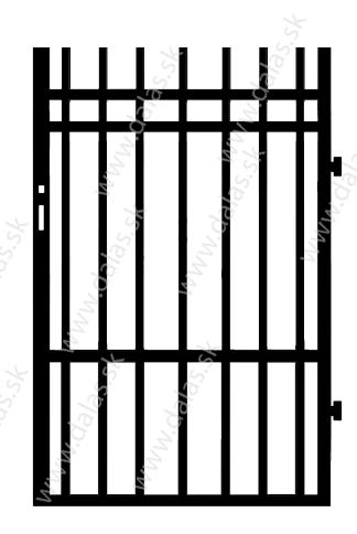 Kovová bránka E2