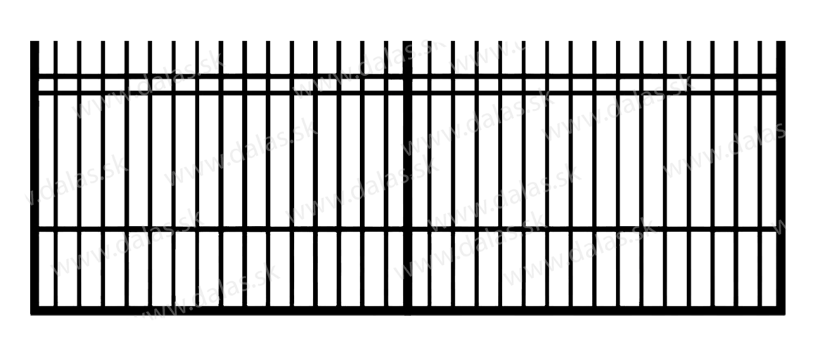 Koľajová kovová brána E2