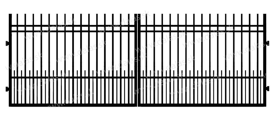Kovová brána E2+