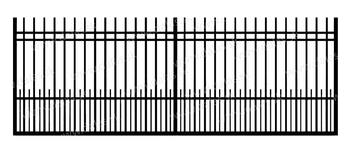 Koľajová kovová brána E2+