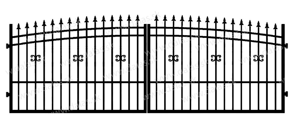Kovová brána J1