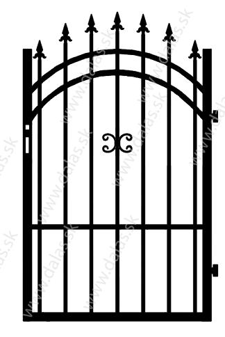 Kovová bránka J1