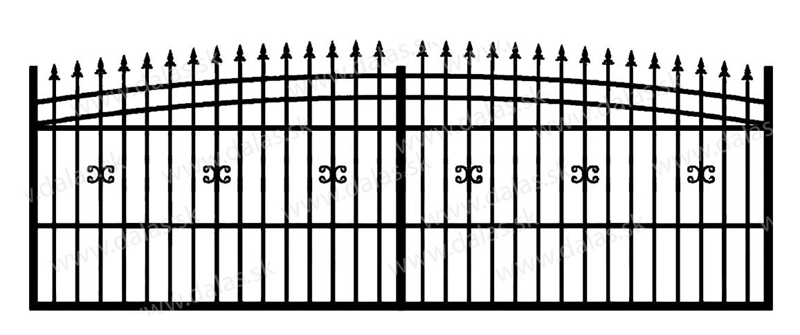 Koľajová kovová brána J1