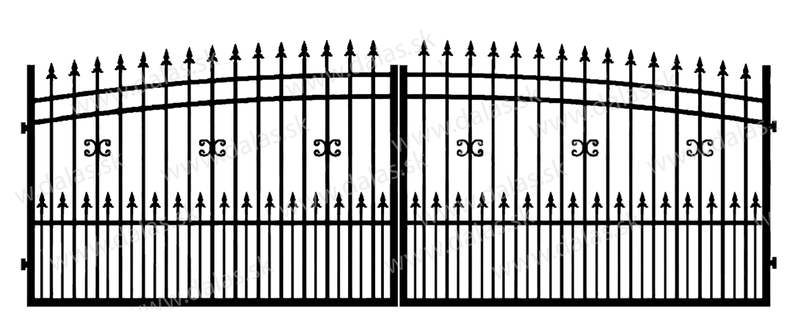 Kovová brána J1+