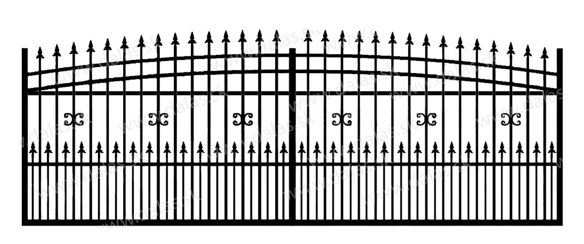 Koľajová kovová brána J1+