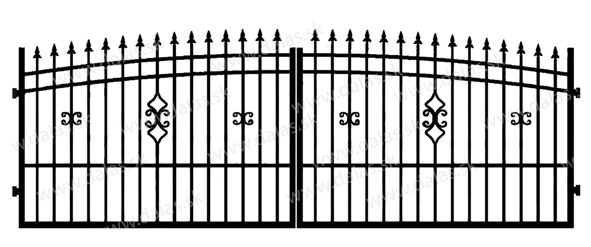 Kovová brána J2