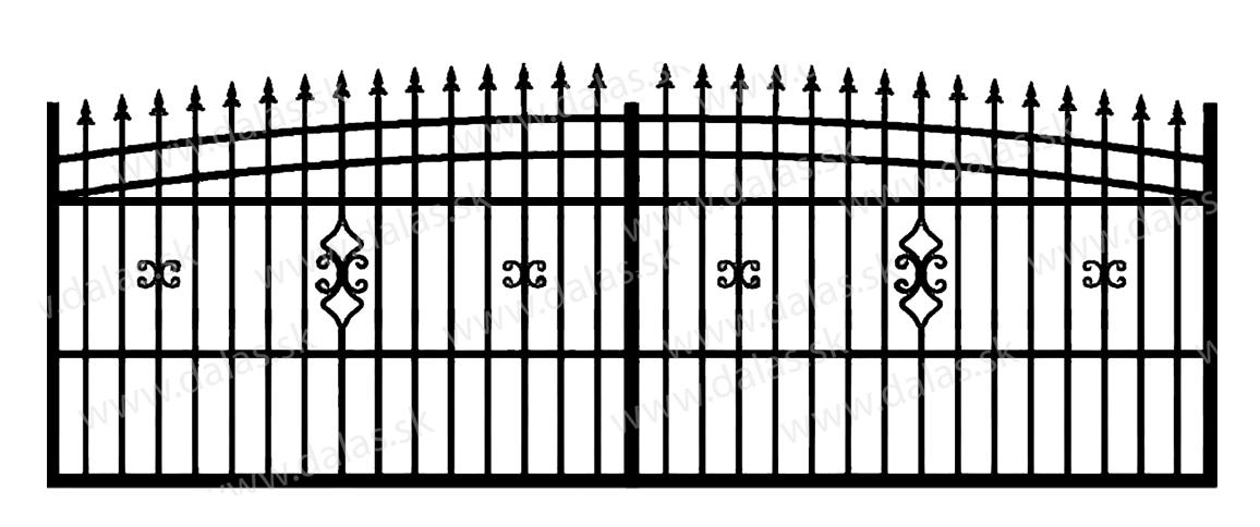 Koľajová kovová brána J2