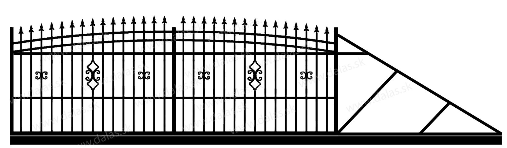 Samonosná posuvná kovová brána J2
