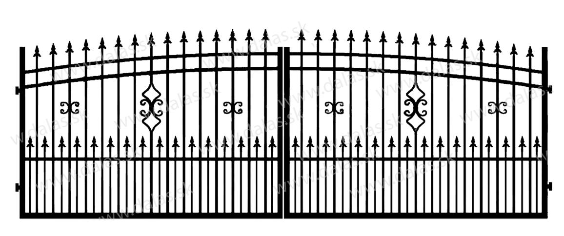 Kovová brána J2+