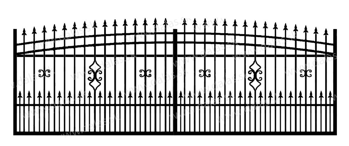Koľajová kovová brána J2+