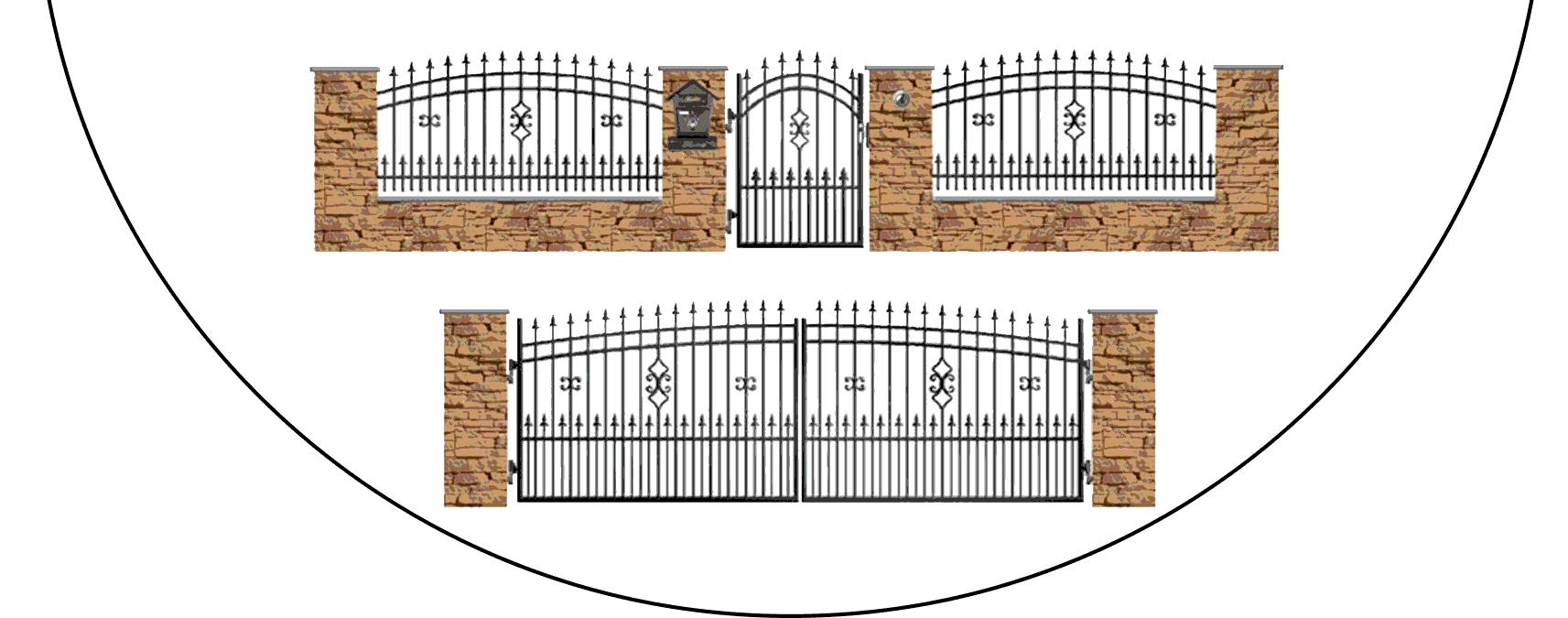 Zostava kovových plotov J2+