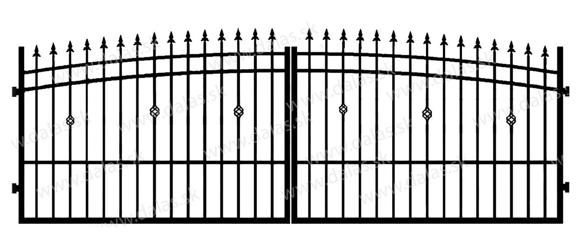 Kovová brána J3