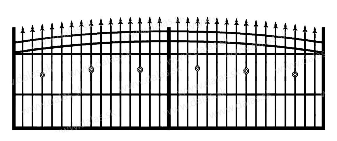 Koľajová kovová brána J3