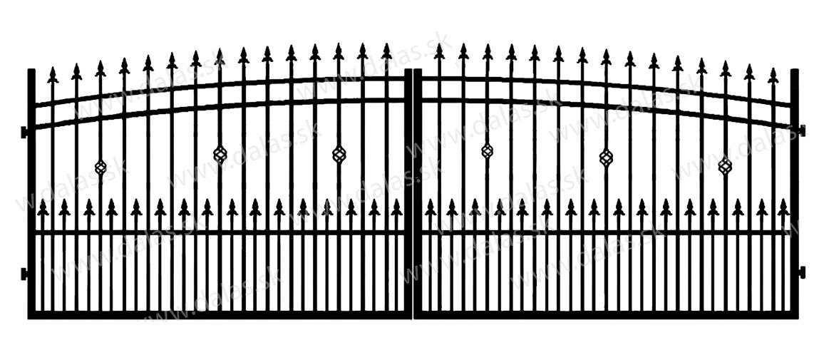 Kovová brána J3+