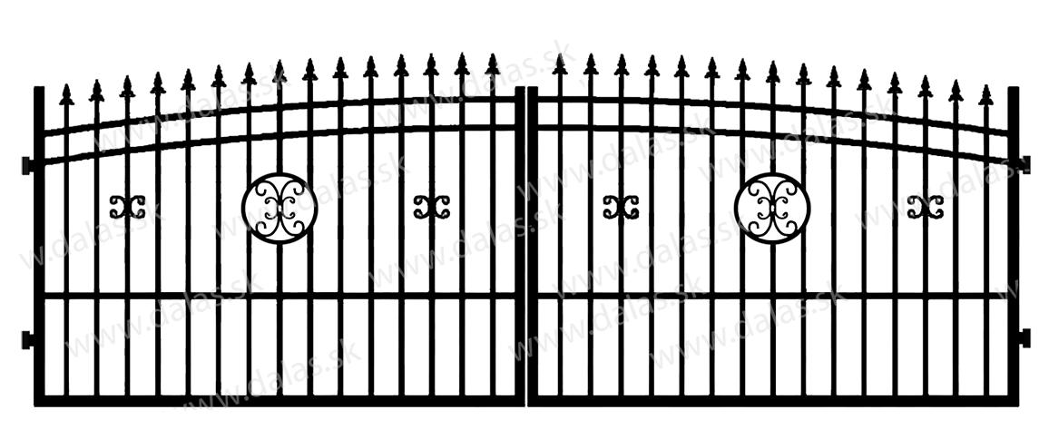 Kovová brána J4