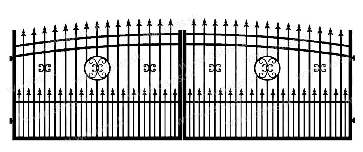 Kovová brána J4+