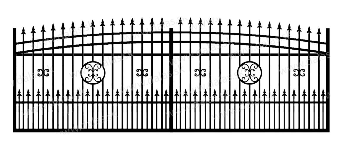 Koľajová kovová brána J4+