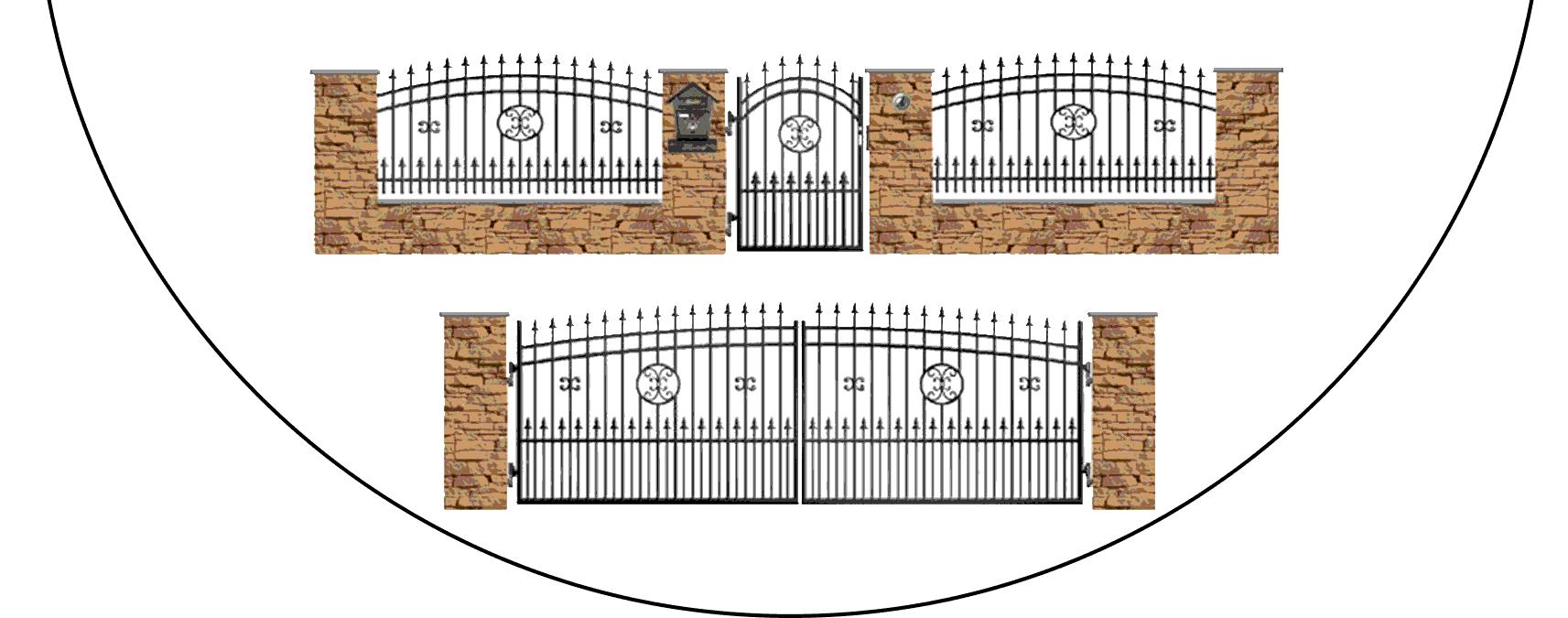 Zostava kovových plotov J4+