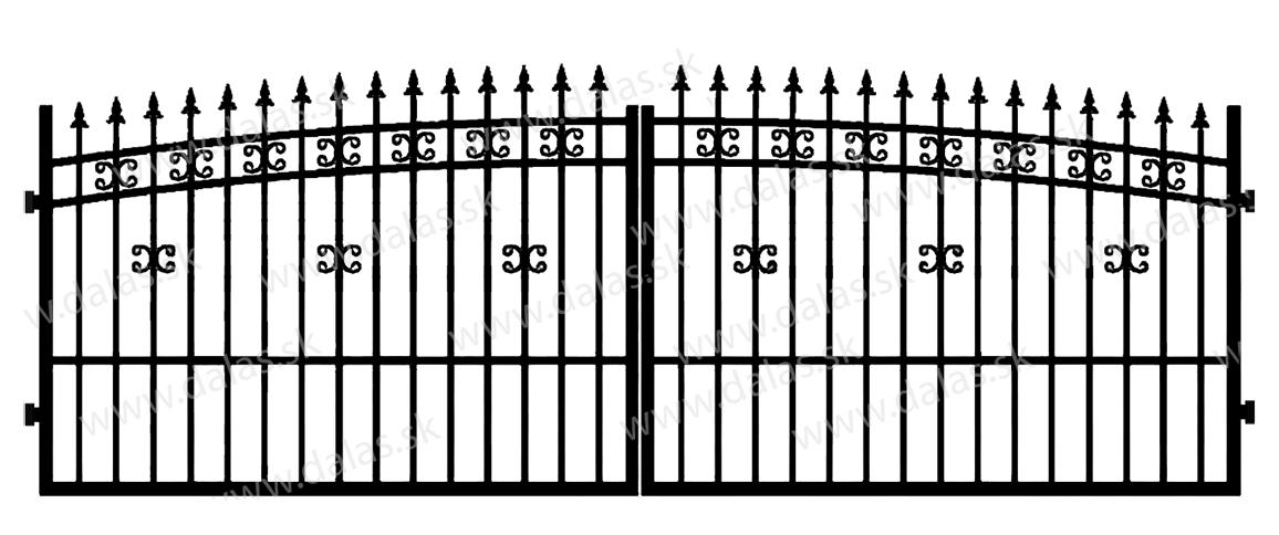 Kovová brána K1