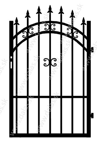 Kovová bránka K1