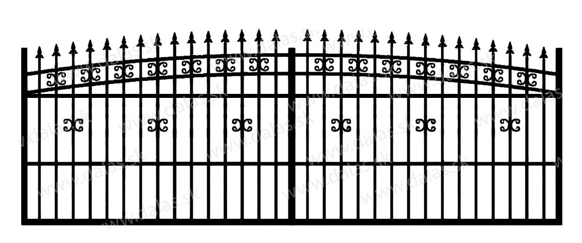 Koľajová kovová brána K1