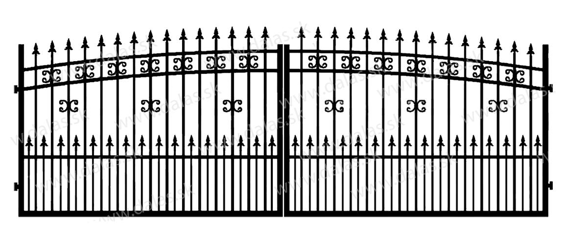 Kovová brána K1+