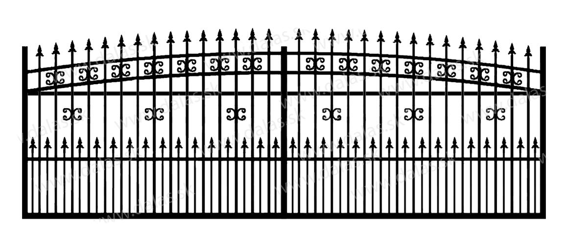 Koľajová kovová brána K1+