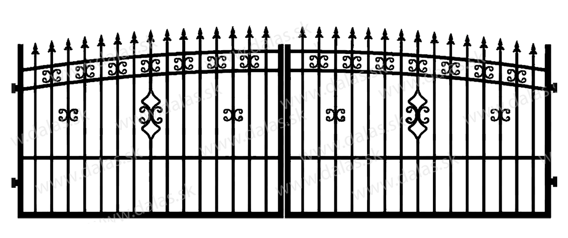 Kovová brána K2