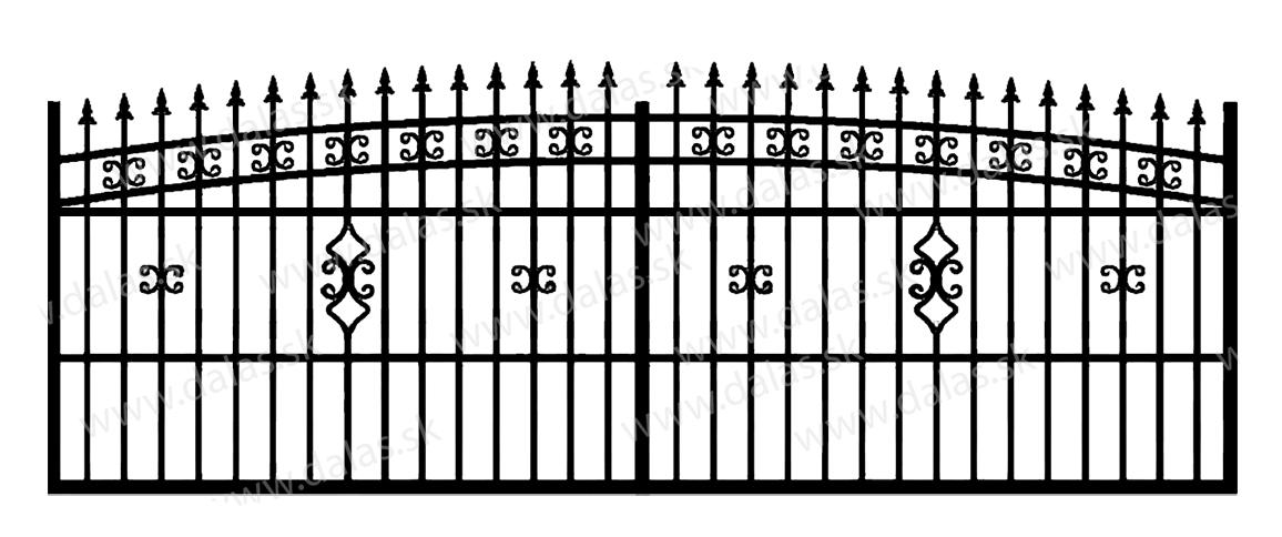 Koľajová kovová brána K2