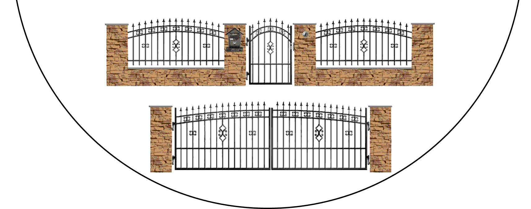 Zostava kovových plotov K2