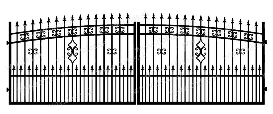Kovová brána K2+