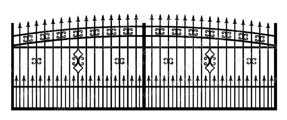 Koľajová kovová brána K2+