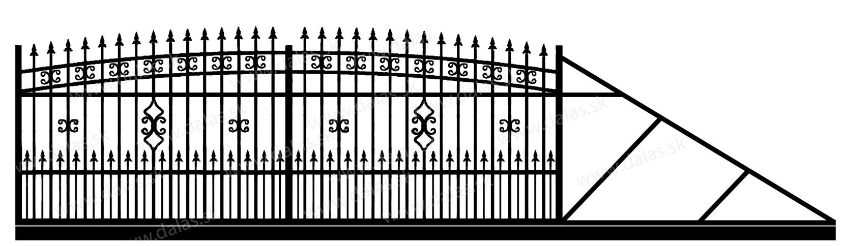 Samonosná posuvná kovová brána K2+